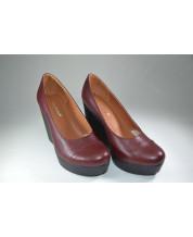 туфли из рыжего флатара на высокой подошве