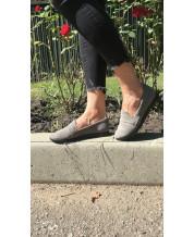 Туфли-лоферы из серого замша