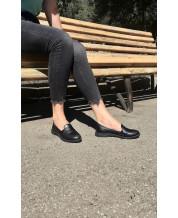 Стильные туфли-лоферы из черной кожи