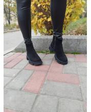 Ботиночки из черного замша
