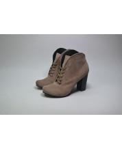 Ботинки из замша капучино