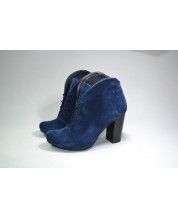 стильные ботинки из синего замша