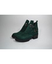 Ботинки Hermes из зеленого замша с резинками