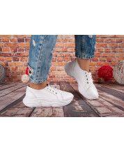 Кроссовки на белой подошве из натуральной белой кожи