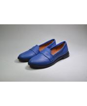 Стильные туфли из синей кожи электрик